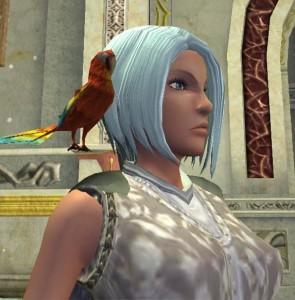 Cecylia ze swoją papugą z LoN
