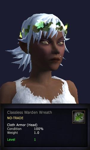 Klasowe nakrycie głowy wardena, w wersji z LoN dostępnae dla każdego.