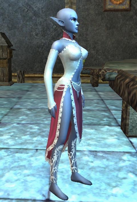 Zaraz obok bankiera ulokował się najznakomitszy broker Norrtah, Pararalum, który modyskom z Norrath może zaoferwać najprzedniejsze stroje. Nasza gildiowa modelka Galadriela przymierza właśnie najnowszy krzyk mody Sukienkę Miłości.