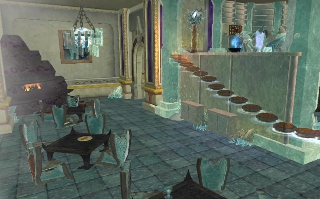 """Siedzenie przy pustych szklanicach jest ponoć """"niezdrowe"""" i dlatego też goście są mile widziani w naszym barze na piętrze co zwie się """"Zmarźlinka"""" lub też mogą ugrzać dłonie i szpony przy naszym wspaniałym kominku."""