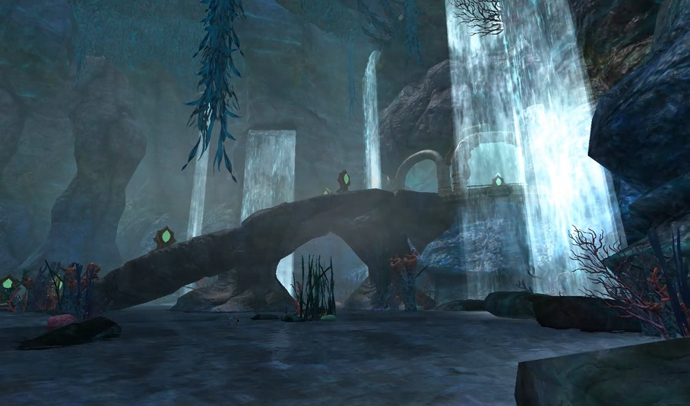 siren's grotto waterfalls
