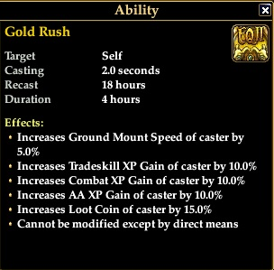 gold rush spell