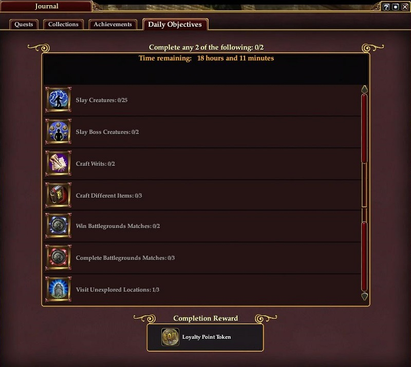 Daily objectives eq2