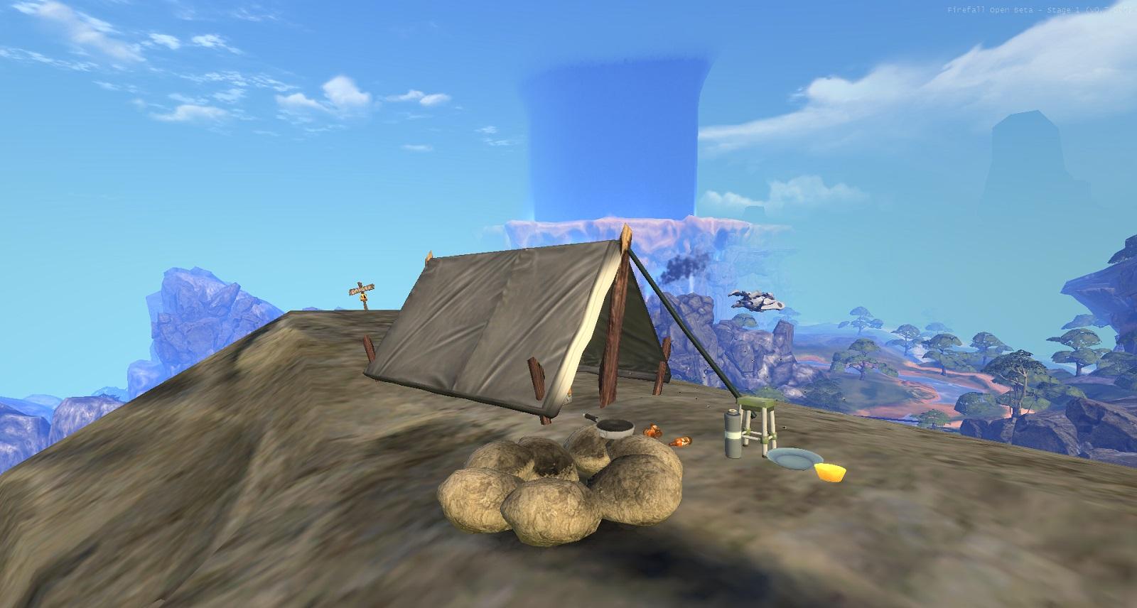 Firefall obóz na szczycie