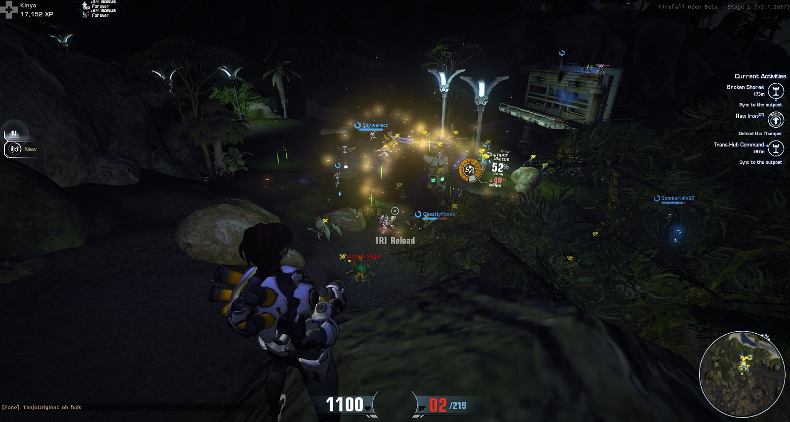 Firefall thumper extraction