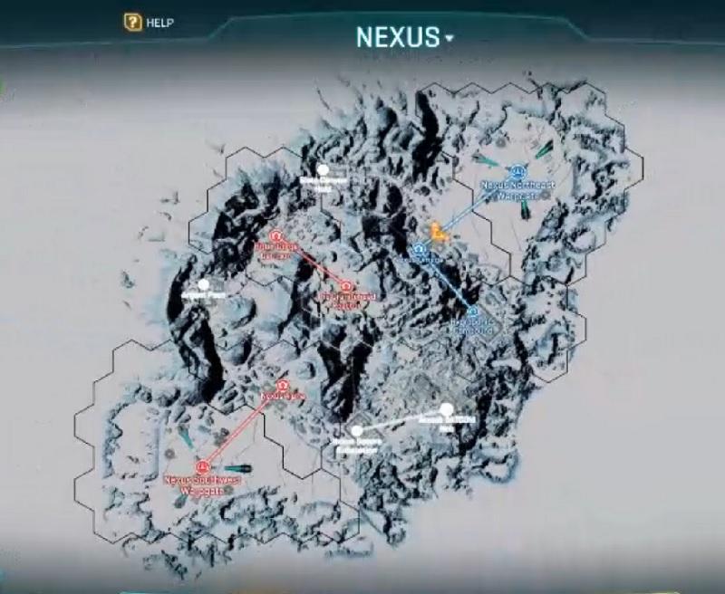 Nexus mapa