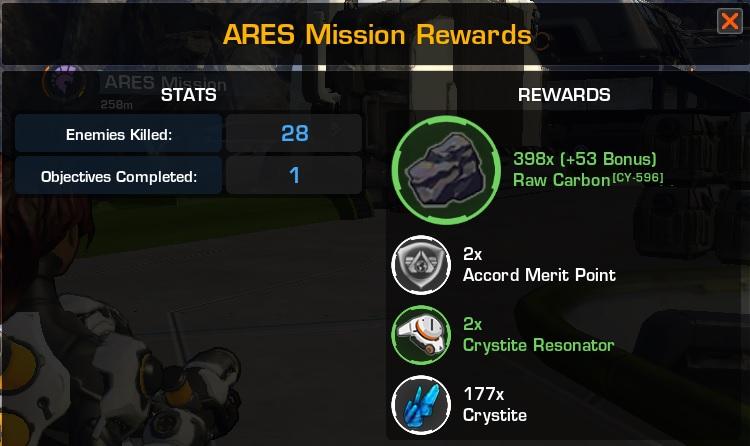 rewards_ares mission