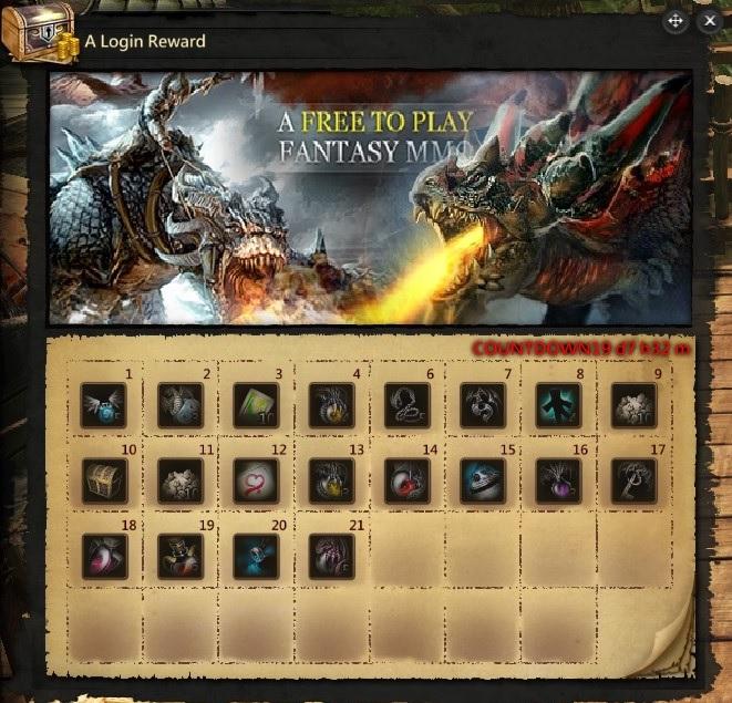 login rewards dragons prophet