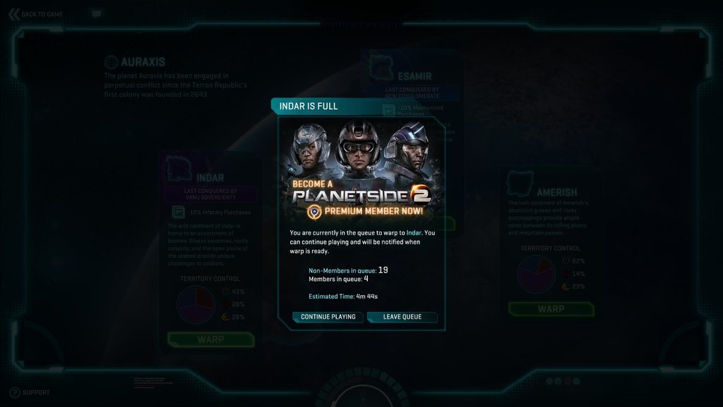 2013_11_21 planetSide 2 server full