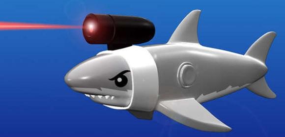 rekin z laserem