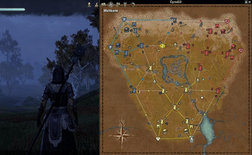 TESO Cyrodiil mapa 2