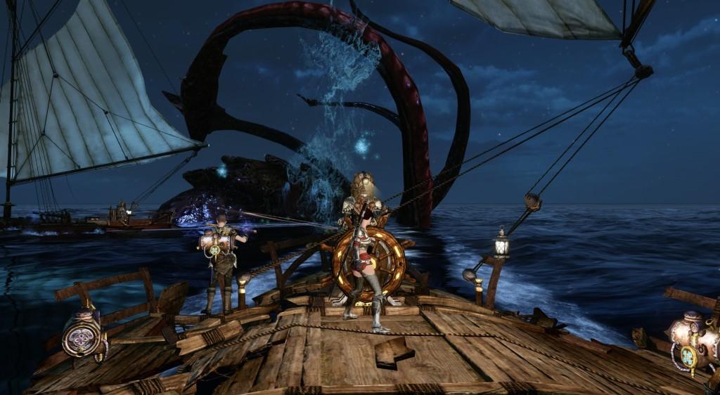 ArcheAge statek i kraken